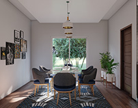 Kitchen & Dining Interior Render