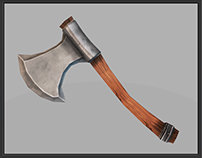 Axe 06 3D Low Poly