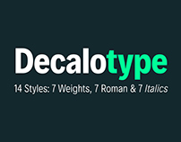 Free Decalotype Typeface