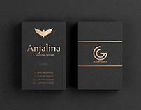 Free Gold Foil Business Card Mockup