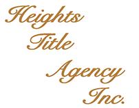 Heights Title Vertical Vinyl Banner
