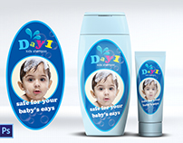 kids Shampoo label