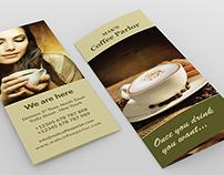 Coffee Parlor Tri Fold brochure