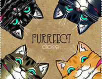 Purrfect - clothes tag -