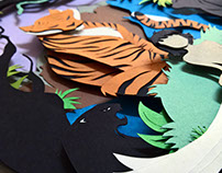 The Jungle Book Paper Cut Art