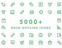 5000+ Bold Outline Icons