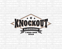 Knockout Barbershop identity and photos