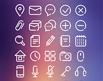 FREE - 35 LINE FLAT USER ICONS