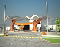 Abastible Autogas - Diseño Arquitectónico Marquesinas
