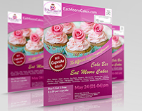 Exclusive Flyer Design to Eat Moore Cakes Bakery