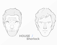 Portrait Illustration - House M.D and Sherlock Holmes