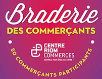 Braderie des commerçants 2015 à Riom
