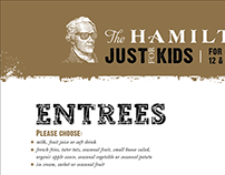 The Hamilton, Just for Kids Menu