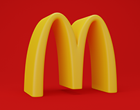 McDonald's Logo 3D Animation
