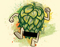Hopstreaker Pale Ale - Beer Label Art