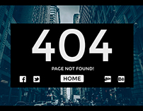Free PSD Classy Photographer 404 Template
