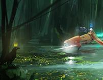 "Speed Painting/""Strange Woods"""