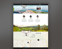 UI design for Looltv a drone's website