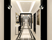 Qatar, Doha Hotel Hallway option 1 Concept Design