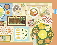 Indonesian Food Illustration