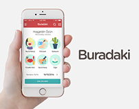 Buradaki Mobile Application UI / UX Design & Branding