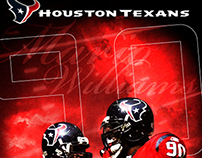 NFL Houston Texans: Mario Williams Fan Art Poster 2006