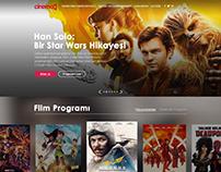 CINEMO Web Page Design Template