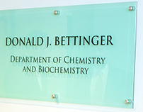 Chemistry Department Signage