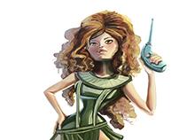 Barbarella Portrait illustration