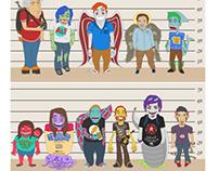 Creatives Cartoon Profiles