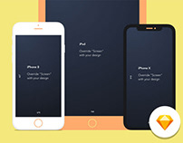 Free iPhone Sketch Mockups – #2