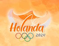 JUEGOS OLÍMPICOS HOLANDA 2024 Branding Ilustración