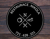 Nikola restaurant sticker
