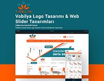 Vobilya Logo & Web Slider Tasarımı