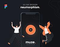 Muze   Neumorphic Music App   UI/UX