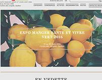 Expo manger santé vivre vert / fictif