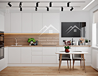 Проект интерьера кухни в современном стиле.
