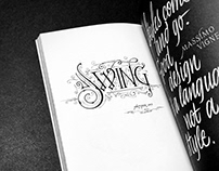 Swing - Lettering | Typism Book Six