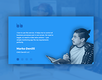 Daily UI #039- Testimonials - free Sketch source