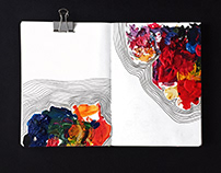 Sketchbook Extract - Leftover Paint Palette