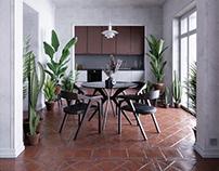 Old apartment adaptation - interior archviz