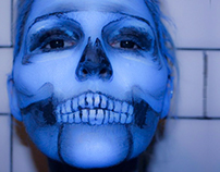 BLUE SKULL Full Face - Theatrical Make-up