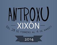 Cartel Antroxu Gijón 2014