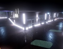 Corridor(Night Time) in Unreal Engine 4