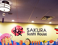 Mural Drawing for Sakura Sushi