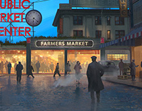 Pike Place Market - Seattle 1920s