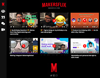 Makersflix.com UI/UX Mock-Up Design