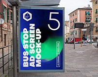 Bus Stop Advertising Screen Mock-Ups 9
