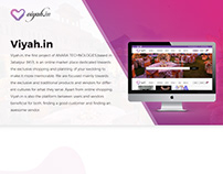Viyah - Wedding Planning and ecommerce website