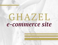 Design for e-commerce site of fashion brand Ghazel